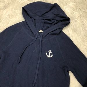 J.CREW Embroidered Anchor Pop Over Hoodie